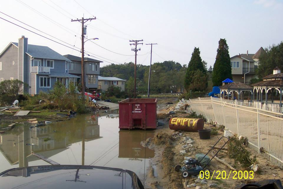 Aftermath of Hurricane Isabel 2003